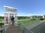 Ascenseur vitré - Perspective 3D la Coulée Verte à Carpentras - Après travaux