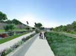 La promenade - Perspective 3D la Coulée Verte à Carpentras - Après travaux