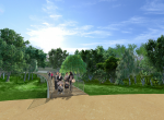 La prairie des Couquières - Perspective 3D la Coulée Verte à Carpentras - Après travaux