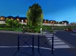 Vue de nuit - Perspective 3D la Coulée Verte à Carpentras -  Après travaux