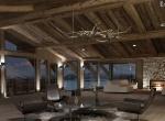 Chalet 3D  La Cry  intérieur design à Megève le salon