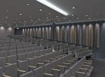 Salle de conférences éclairé, réalise en 3D, agence Lyon