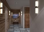 vue de hall 3D, chalet La Blanche