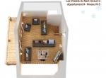 Plan de vente 3D, niveau 4, chalet 3D