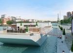 Vue extérieur 3D, Yacht de prestige Paris, image de synthèse 3D