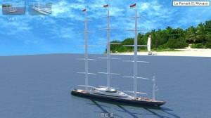 Bateau 3D Ponant 2 Monaco