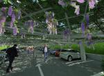 Le parking végétal - Perspective 3D la Coulée Verte à Carpentras - Après travaux