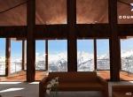 Chalet 3D Stradivarius intérieur à Courchevel 1850  le salon