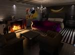 Chalet 3D La Cry  intérieur design à Megève, la chambre