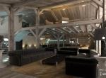Chalet 3D Princese intérieur design à Megève, le salon