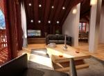 Intérieur 3D de la Ferme de la Plagne Morzine