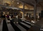 Chalet 3D Androsace intérieur design à Combloux   Le salon