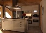 Agencement  3D de la Cuisine