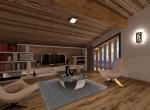Perspective 3D et réalisation intérieur de la Mezzanine B