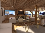 Perspective intérieur 3D du Salon