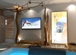 design sauna 3D, chalet La Blanche
