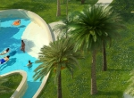 Perspective 3D Oasis de Noria à Marrakech