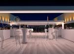 Bar restaurant 3D, image de synthèse, Yacht Liberty