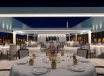 Restaurant de prestige 3D, image de synthèse, Yacht Liberty