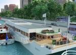 Vue extérieur 3D, Yacht Liberty, image de synthèse 3D, Rhône Alpes